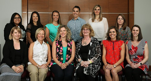 Standing (left to right): Nancy de Vera, Katherine Lee, Lindsey Oretan, Jeff Gall, Sonia Roul, Shannon McCallum, Seated (left to right): Nancy Kahl, Leanne Hughes, Katherine Plested, Sue Verrilli, Jackie Frail, Monica Almas