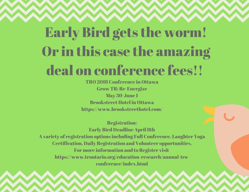 Early Bird Gets the Worm -Early Bird Deadline April 8, 2018