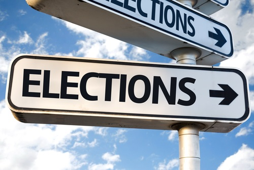elections street sign