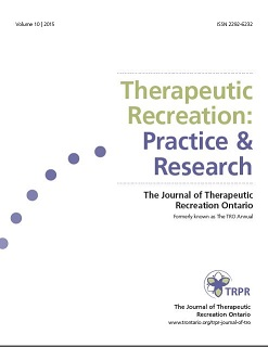 Therapeutic Recreation Practice & Research Journal of TRO volume 10